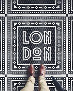 Art deco floor by @nickmisani via @type.gang #dcnlondon #dcntypography