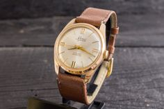 Vintage #Renis mens watch, elegant gold plated vintage swiss watch, Renis Geneve