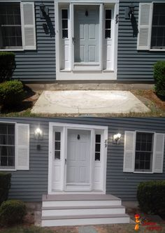 Front door steps home deck remodeling
