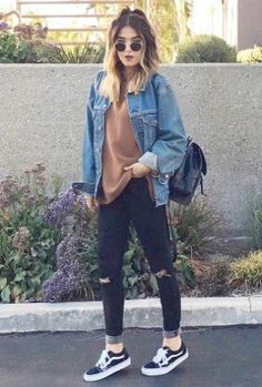 See our straightforward, comfortable & simply lovely Casual Fall Outfit inspiring ideas. Get encouraged with these weekend-readycasual looks by pinning one of your favorite looks. casual fall outfits for work Teen Fashion, Fashion Outfits, Fashion Ideas, Fashion Clothes, Womens Fashion, Fasion, Punk Fashion, Edgy Fall Fashion, Fall Fashion Women