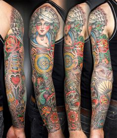Nautical tattoo sleeve