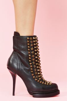 Devour Studded Boot in Shoes at Nasty Gal