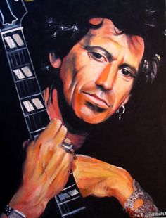 """Keith Richards - 18""""x 24"""" acrylic on canvas was a pleasure to do. The person who purchased it was indeed a big fan of the Rolling Stones!"""