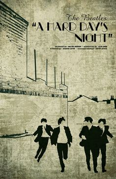 """A Hard Day's Night"" , The Beatles - #poster"