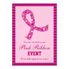 Breast Cancer Fundraiser Ideas Pink | custom invitation for a fundraiser event add your own wording and ...