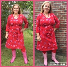 Tante Betsy Dress Ola Flora Red