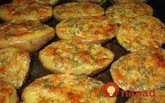 Pečené zemiaky scesnakom, maslom abylinkami