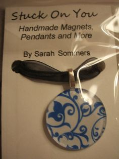 Glass pendant Glass Pendants, Magnets, My Etsy Shop, Handmade, Hand Made, Handarbeit