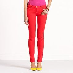 slimming down in order to fit into these coral skinny jeans for Spring