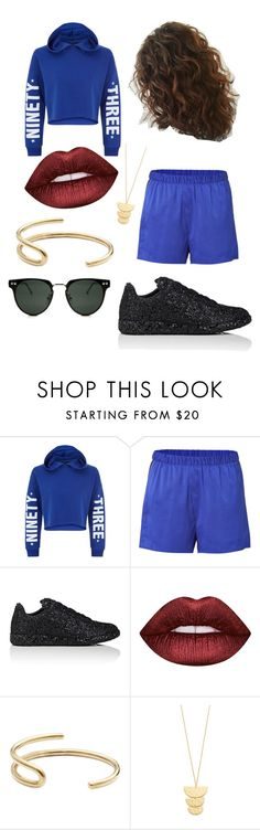 """Untitled #395"" by hollicakes ❤ liked on Polyvore featuring New Look, T By Alexander Wang, Maison Margiela, Lime Crime, Fay Andrada, Gorjana and Spitfire"