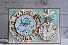 Card by DT member Wybrich with clear stamp Snoesje and Craftables Clock by Marianne Design 3d Cards, Paper Cards, Noel Christmas, Christmas Cards, Marianne Design, Winter Cards, Craft Materials, Kraft Paper, Artisanal