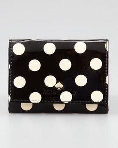 Kate Spade Carlisle Street Darla Wallet in Black (camel/black) Card Wallet, Clutch Wallet, Leather Wallet, Kate Spade Wallet, Kate Spade Purse, Carlisle, Christmas Crafts For Gifts, Gift Crafts, Cute Wallets