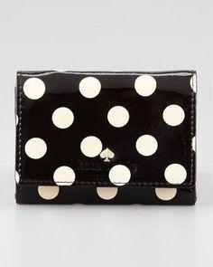 Kate Spade Carlisle Street Darla Wallet in Black (camel/black) Card Wallet, Clutch Wallet, Leather Wallet, Leather Bag, Patent Leather, Kate Spade Wallet, Kate Spade Purse, Queen Of Spades, Cute Wallets