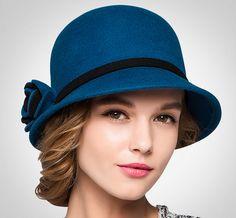Womens fashion Wool Hat Winter Autumn Bucket from supergirlbeauty Hats Retro Mode, Fall Hats, Stylish Hats, Wearing A Hat, Love Hat, Fashion Videos, Cute Hats, Mode Style, Hats For Women