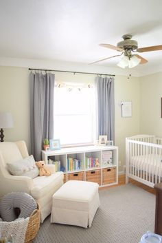 Peaceful Nursery Ideas I love! Five peaceful nursery ideas inspired by my former college roommate and her son Luke. These simple tips will help you create a peaceful and restful space where you can relax with your baby. Baby Nursery Decor, Baby Bedroom, Baby Boy Rooms, Nursery Neutral, Baby Boy Nurseries, Girl Nursery, Nursery Ideas, Simple Baby Nursery, Nursery Chairs