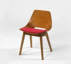Pierre Guariche; Wood 'Tonneau' Chair for Steiner, 1954.