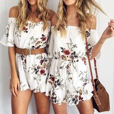 876eb20f3e20 NIBESSER Women Sexy Off Shoulder Floral Print Elegant Ruffle Jumpsuit  Romper Ladies Summer Beach Short Playsuit Women Overalls