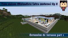Minecraft: Tuto maison ultra moderne 1 ( minimaliste ) ep 4 | Mes ...