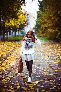 Skater skirt and cardigan