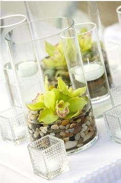 contemporary floating candle arrangement - Google Search