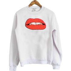 lips funny light pink color Unisex Sweatshirts