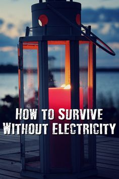 How to Survive Without Electricity - We've become so reliant on electricity that many of us wouldn't know how to survive without it. Electricity powers everything we do- cooking, bathing, cleaning, staying updated on the news, staying cool, etc. If you've ever been without power for more than a few days, then you know how inconvenient it is!