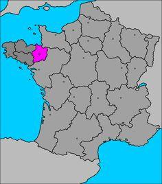 Mapa del Departamento de Ille y Vilaine (Bretaña)
