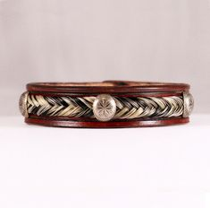 Horsehair and Leather Bracelet