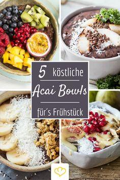 Was Acai-Bowls sind? Unwiderstehlich leckere Frühstücksschüsseln, vollgepackt mit frischem Obst, knackigen Nüssen und vieler anderer Leckereien. Finde hier köstliche Rezeptinspirationen!