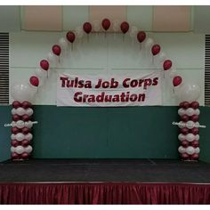Balloon Arch, Balloons, Job Corps, Arches, Graduation, Cake, Pie Cake, Pastel, Moving On