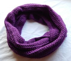 Mulberry Infinity Scarf Female Crochet by dilliedabbledesigns, $20.00