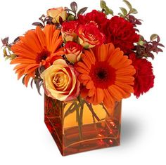 fall wedding centrepieces floral simple gerbera - Google Search