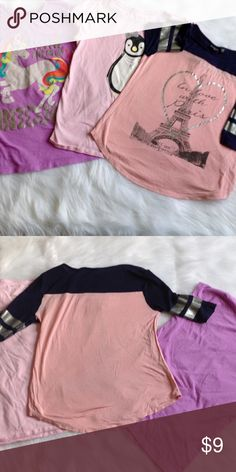 Girl's t shirt bundle Great cute shirts! Used good condition, definitely ready for another little girl! Shirts & Tops Tees - Short Sleeve