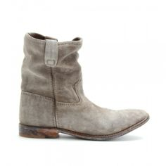 Gray Isabel Marant Jenny Brushed Suede Ankle Boots