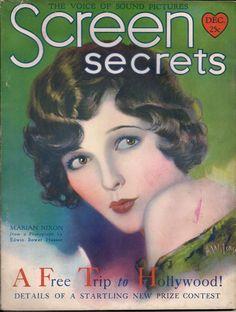 "December, 1929 ""Screen Secrets"" magazine cover featuring Marian Nixon."