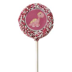 Dinosaur Birthday Favors Pink Dinosaur | Chocolate Dipped Oreo Pops