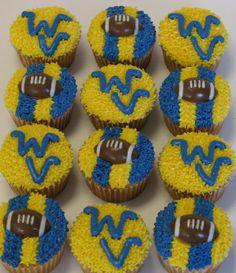 West Virginia Mountaineers Cupcakes