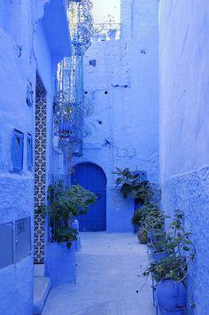 Chefchaouen (Morocco) by Xavivi. #Morocco #blue #alley