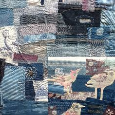 "Boro Workshop---stitching ""indigo"" scraps With Tricia Warman"