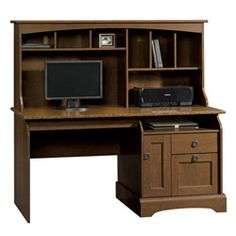 Graham Hill Computer Desk With Hutch - Sauder Office Furniture