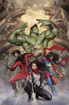 Amadeus Hulk, Ms. Marvel, Shang Chi & Silk by Stonehouse