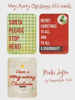 PDF Very Merry Christmas 3x4 Cards for your Project Life & December Daily Free for a limited time