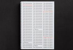What Makes for a Brilliant Book Cover? A Master Explains | Mendelsund's cover for James Gleick's  | Credit:The Information | From WIRED.com