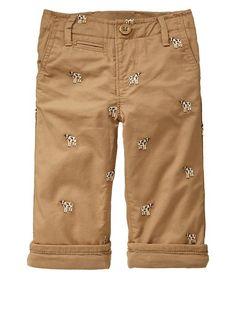 Pants with little cows. Cute Little Boys, Little Man, Little Ones, Gap Kids, Stylish Kids, Baby Boy Outfits, My Girl, Khaki Pants, My Style