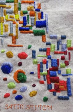 I ❤ embroidery . . . Satin Stitch, Catching up with TAST ~By Maya Matthew