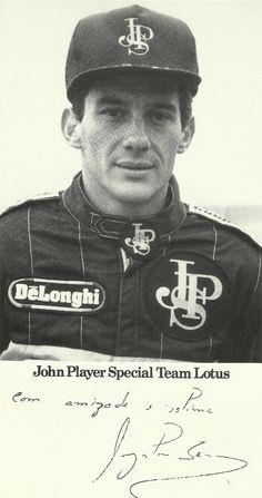 Autograph:Ayrton Senna - Formula One World Champion.