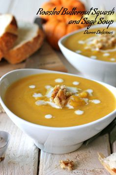 Roasted Butternut Squash and Sage Soup