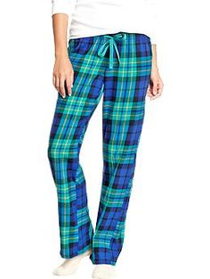 So into plaid lounge pants in the winter:).  Womens Printed Flannel PJ Pants