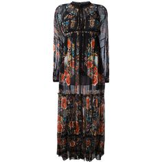 Roberto Cavalli Hippy long dress (6.645 BRL) ❤ liked on Polyvore featuring dresses, black, hippie dresses, roberto cavalli dresses, long hippie dresses, long dresses and hippy dress