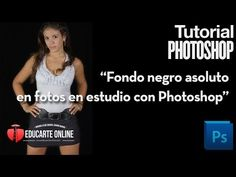 Fondo negro absoluto para fotografía en estudio con Photoshop - YouTube